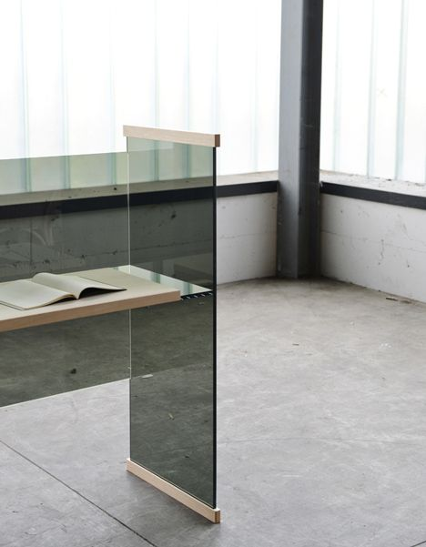 bouroullecs to present glass furniture range in milan - Designer Glass Desk