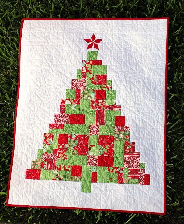 Modern Patchwork Christmas Tree   Weihnachten nähen, Weihnachten und ...