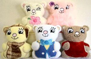 """""""Huggable Bears 2"""" Here are 5 more, adorable bears just as cute, if not cuter, than those in the first set! Available in your choice of 5x7 or 6x8 hoop sizes. Fun to gift!"""