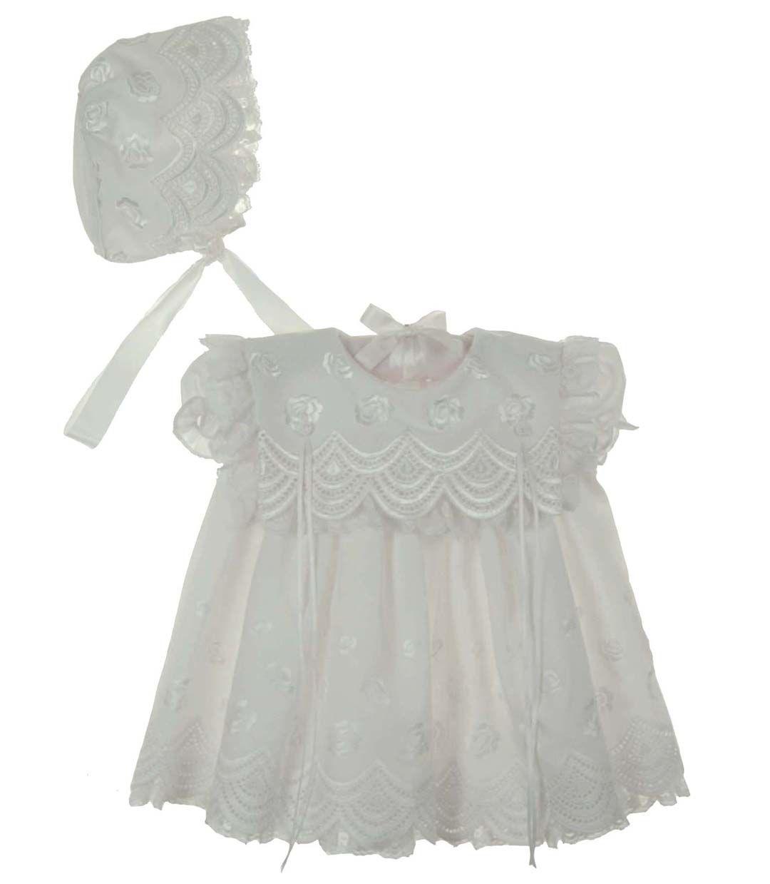 New C I Castro White Eyelet Embroidered Dress And Bonnet Set 65 00 Infant Flower Girl Dress Christening Dress Baby Girl Girls Baptism Dress [ 1239 x 1080 Pixel ]