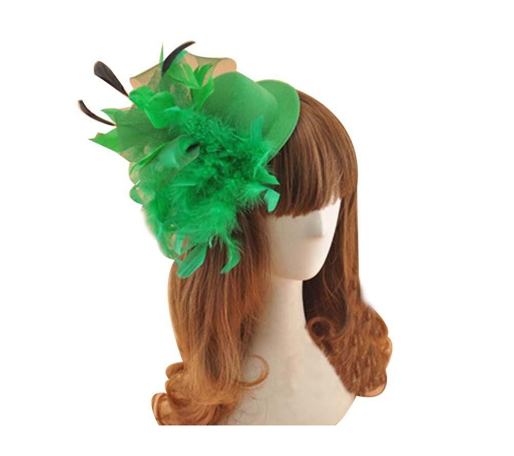 Beautiful Charming Feather Hairpin for Parties/Stage/Wedding,Hat,Green ** For more information, visit image link.