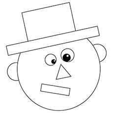cartoon face made in shapes coloring pages free printable - Shape Coloring Pages Toddlers