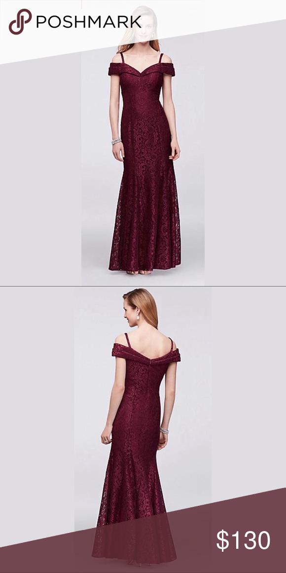 744f36f2c4 Cold-Shoulder Glitter Lace Mermaid Dress R M Richards Dress.... This sleek