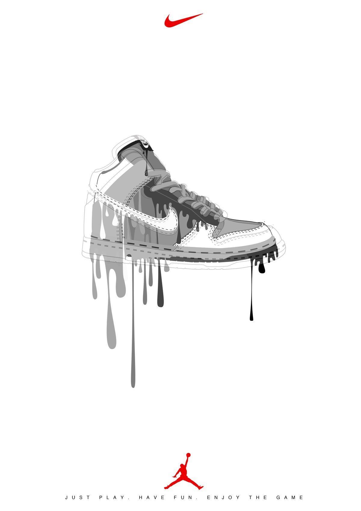 Pin By Jessie Dior On Sneakers Nike Art Nike Drawing Sneaker Art