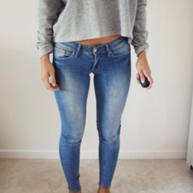 Womens light gray skinny jeans – Global fashion jeans collection