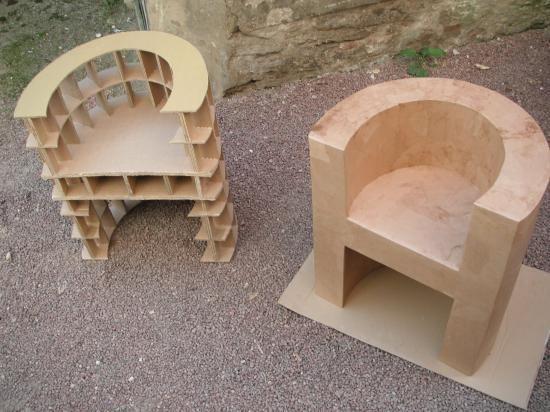 fauteuil rond kraft en construction meubles pinterest cardboard furniture craft and. Black Bedroom Furniture Sets. Home Design Ideas