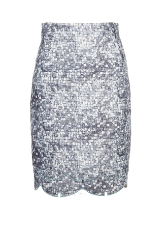 Oxygen | O'2nd Blue Tile Skirt #o2nd #blue #skirt #print #fashion #trend #feminine #style #shopping