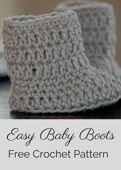 Free Baby Boots Crochet Pattern | Tejido, Bebé y Ganchillo