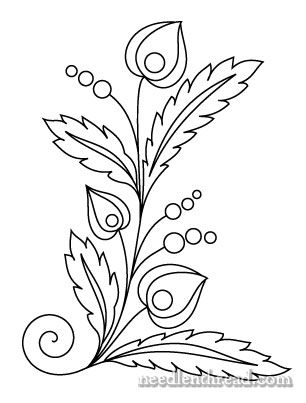 Free Hand Embroidery Pattern Czech Inspired Folk Flowers In 2018