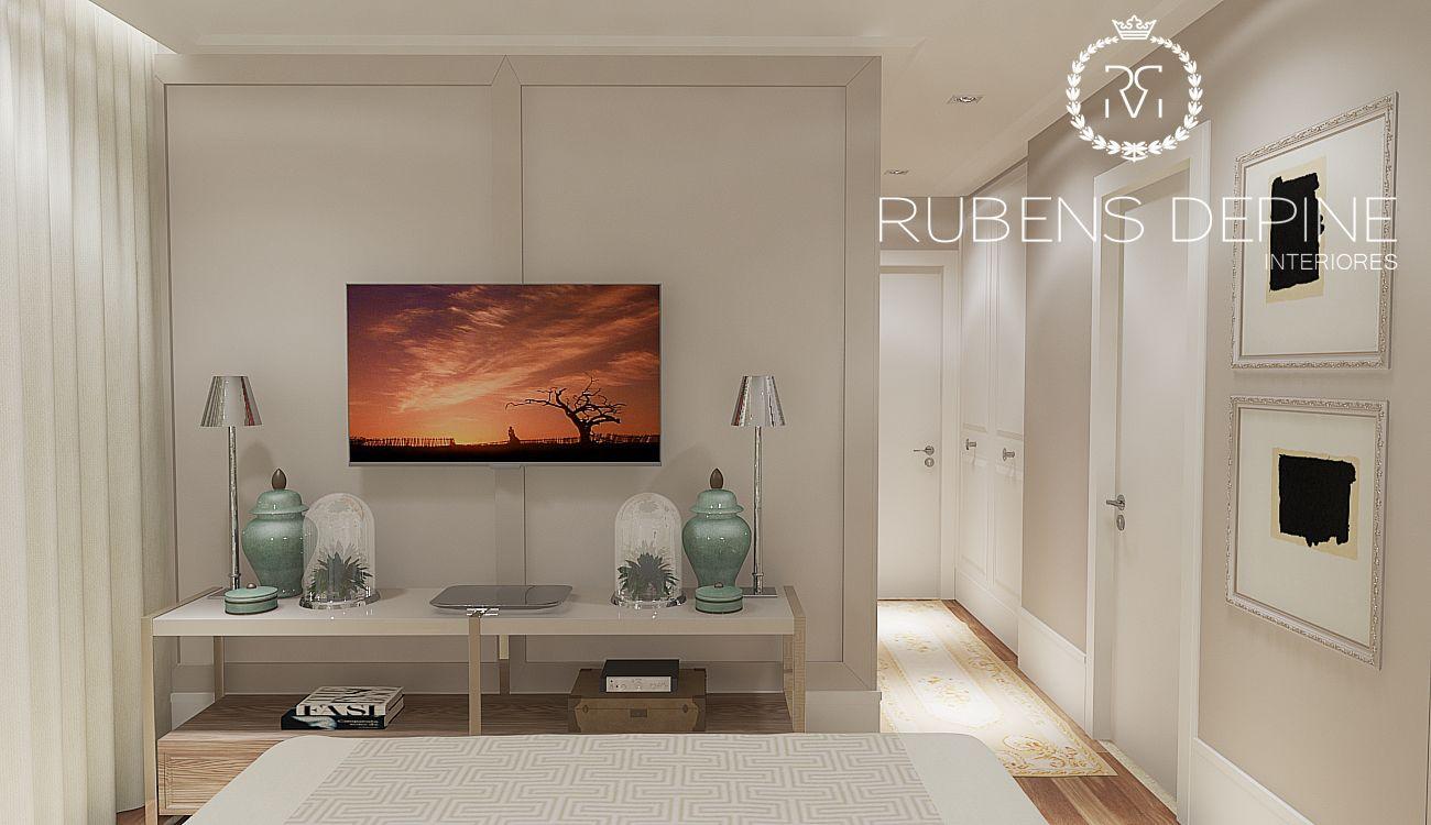 escritorio de decoracao projeto quarto casal painel tv painel casal escritori