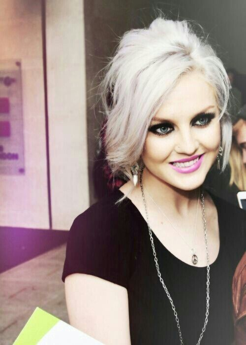 Perrie Edwards. Platinum silver