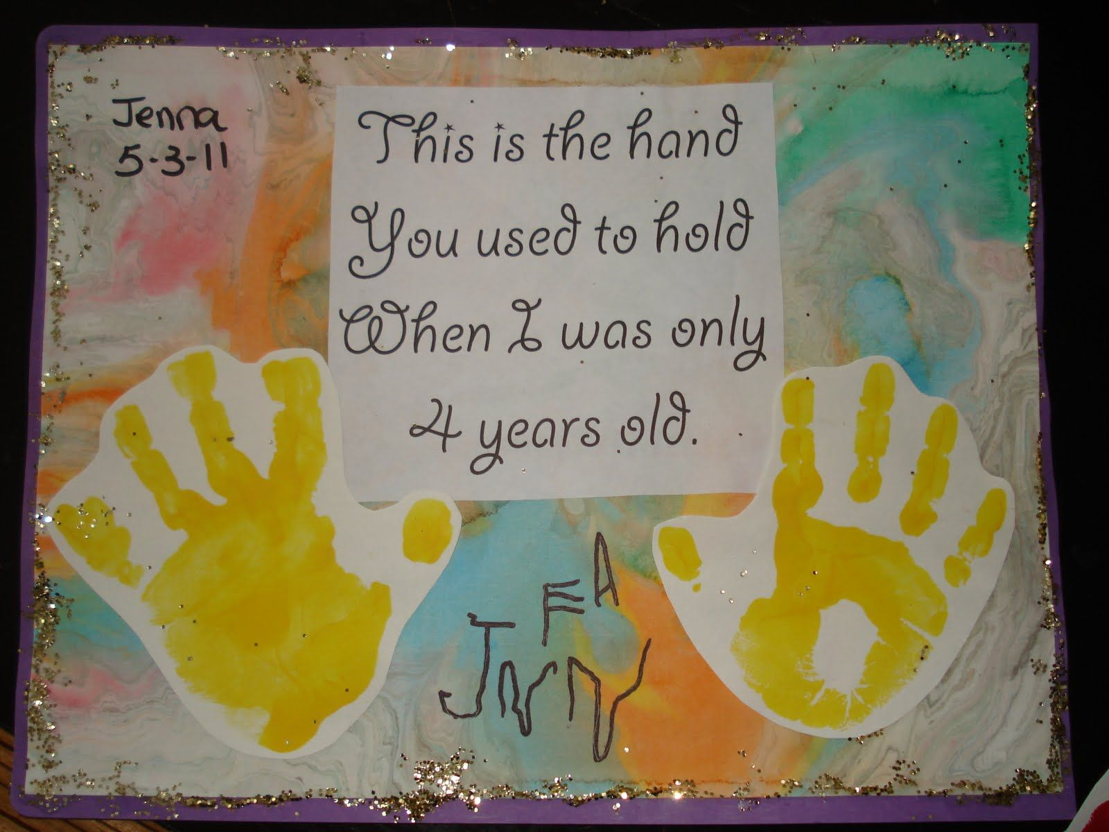 Years Day Was Old Mothers Used Ideas I When 4 Hold Hand Handprint You