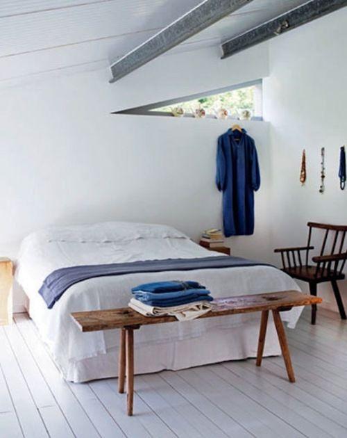 a crisp summer bedroom #home #decor