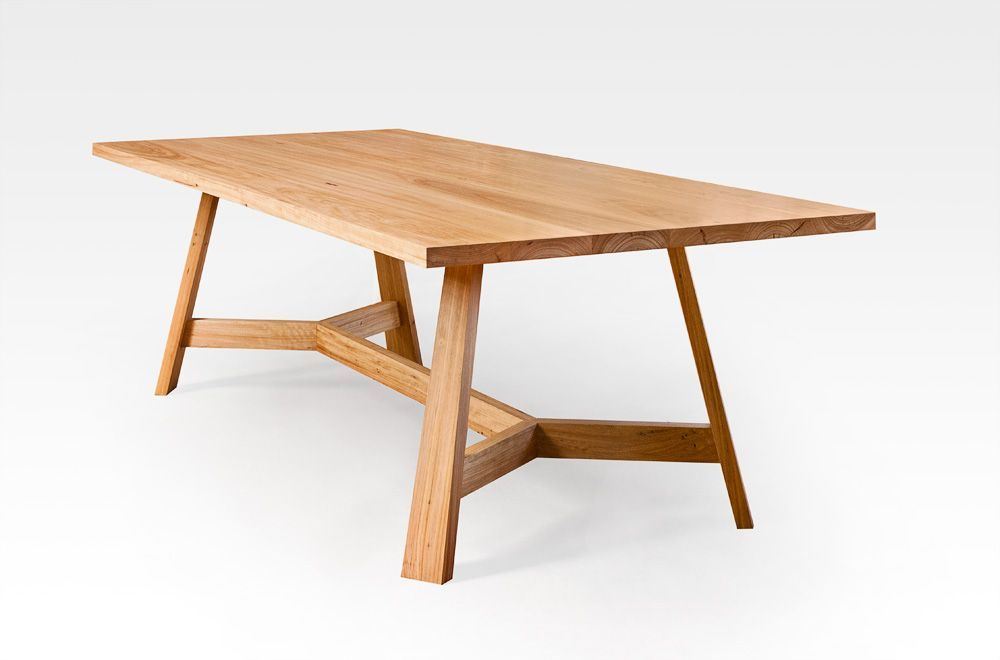 Charming Blackbutt Dining Table With Splayed Legs