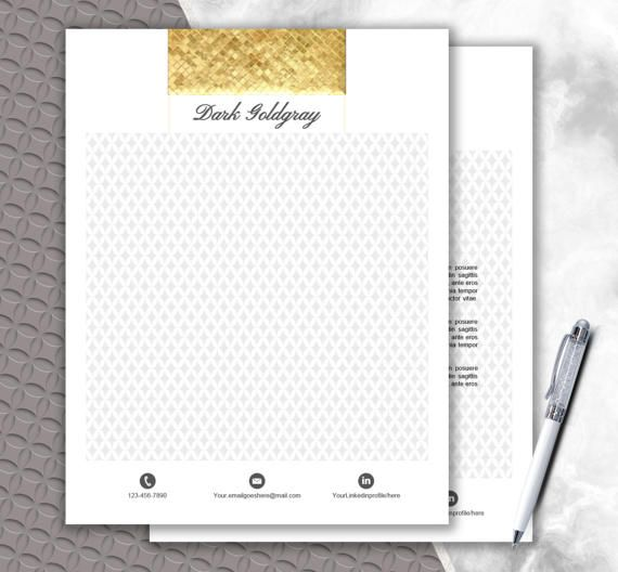 Fashionable Stationery Personalized Letterhead by DocumentFolder - ms word letterhead templates free download