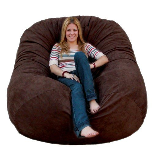 Cozy Sack Bean Bag Chair Large Chocolate The Foam Is Most Comfortable Place To Sit Anywhere They Are Filled With Softest
