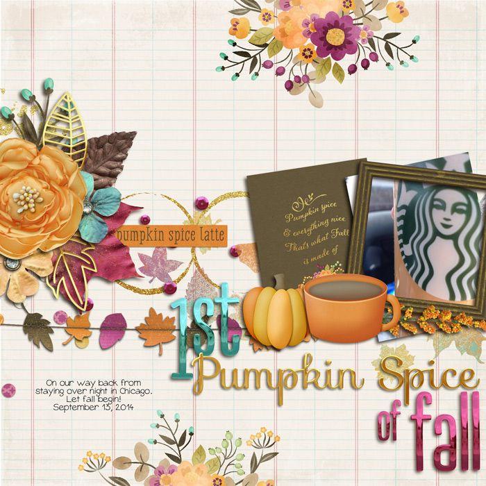 1st pumpkin latte of fall - Scrapbook.com Like this idea.....1st gingerbread latte ??...