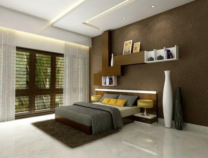 wandgestaltung ideen fürs schlafzimmer schickes wanddesign mit - wandgestaltung ideen schlafzimmer