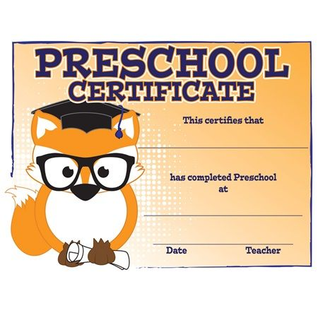 Fox Preschool Certificates  Match This Certificate Up With Other