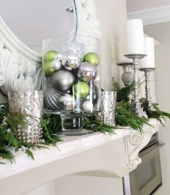 Contemporary holiday decor christmas decorations - Modern christmas mantel ideas ...
