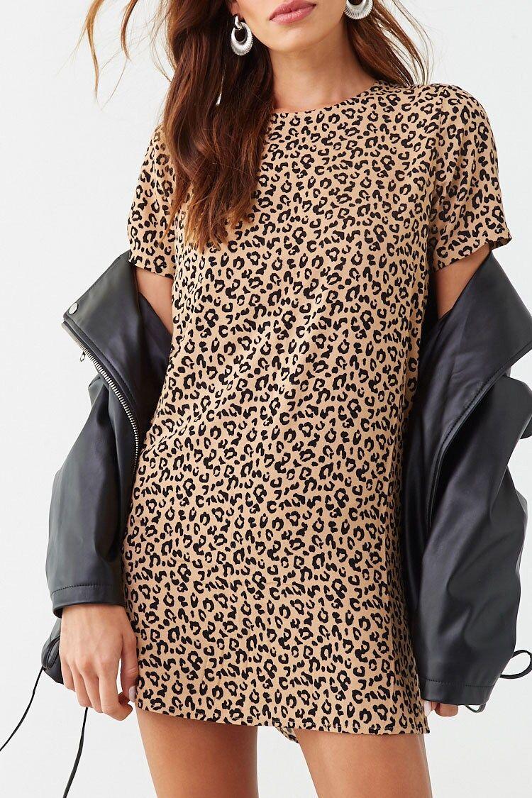 Leopard Print Fleece Sweater Sweatshirts Women Fashion Leopard Print Sweater [ 1313 x 1024 Pixel ]