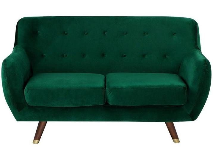 2 Sitzer Sofa Samtstoff Smaragdgrun Bodo In 2020 Love Seat Furniture Home