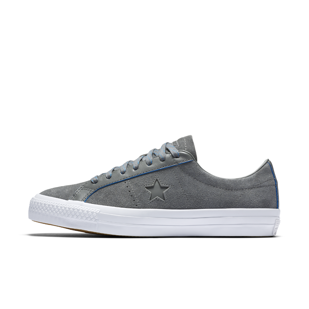 d9a394b149ec86 Converse CONS One Star Pro Rub-Off Leather Low Top Skateboarding Shoe Size  10 (Grey) - Clearance Sale