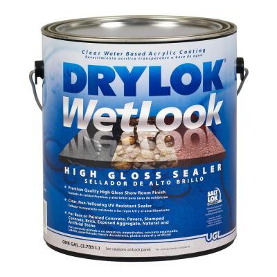 Drylok 1 Gal Wetlook Sealer 209147 The Home Depot In 2020 Sealer Garage Makeover Concrete Sealer