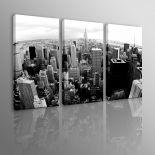 3 QUADRI MODERNI BIANCO E NERO SKYLINE DI NEW YORK - MAVIXSHOP ...