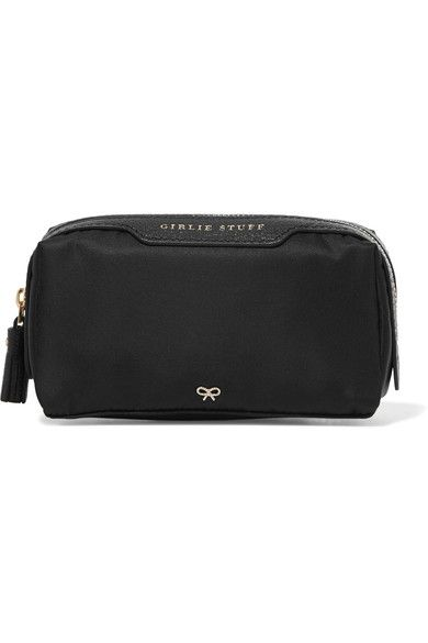 ANYA HINDMARCH Girlie Stuff leather-trimmed shell cosmetics case.   anyahindmarch  cosmetics cases adf2e9eb0174f