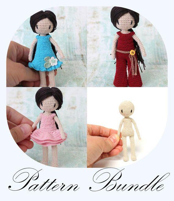 PATTERN BUNDLE: Crochet Doll Pattern, Amigurumi Doll, Crochet ...