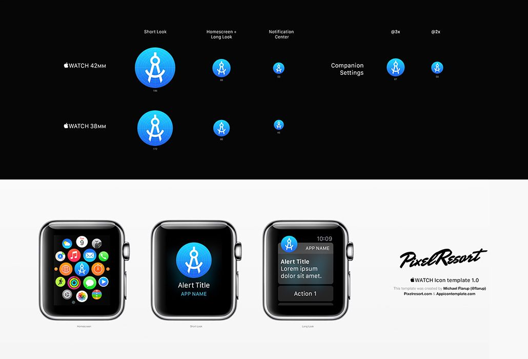 Download OoApple Watch App Iconoo Template By Icon O PSD