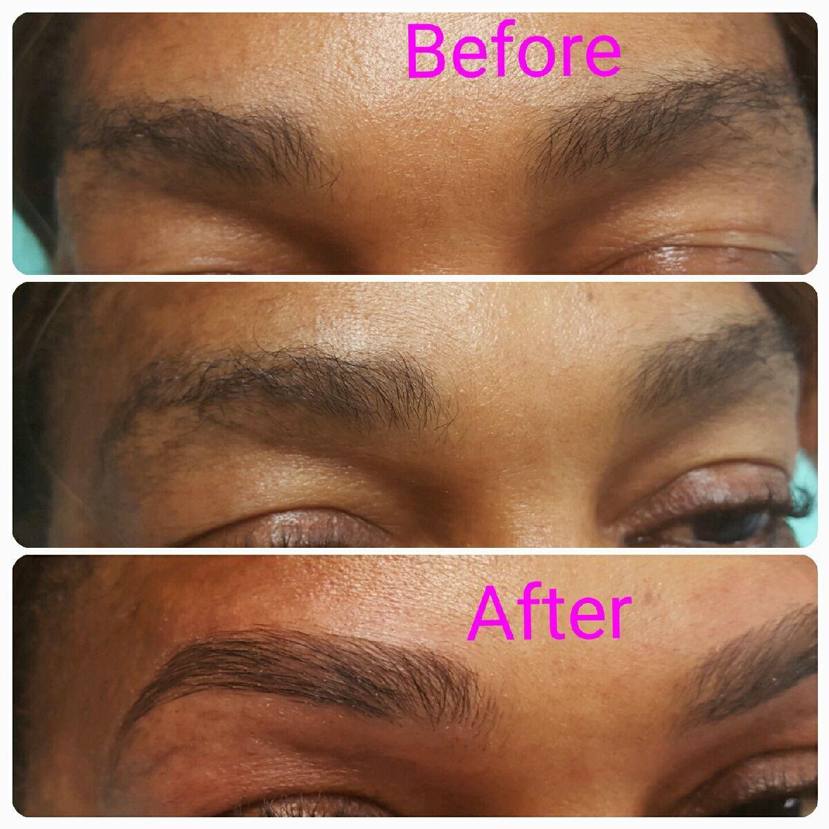 Eyebrow Microblading for fullness and shape correction