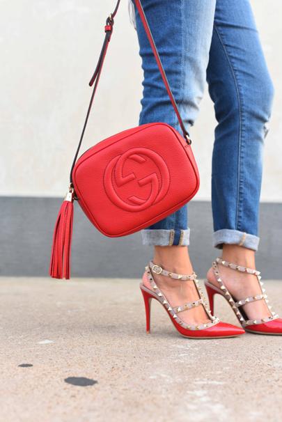 Gucci Soho Disco Valentino Rockstuds Red