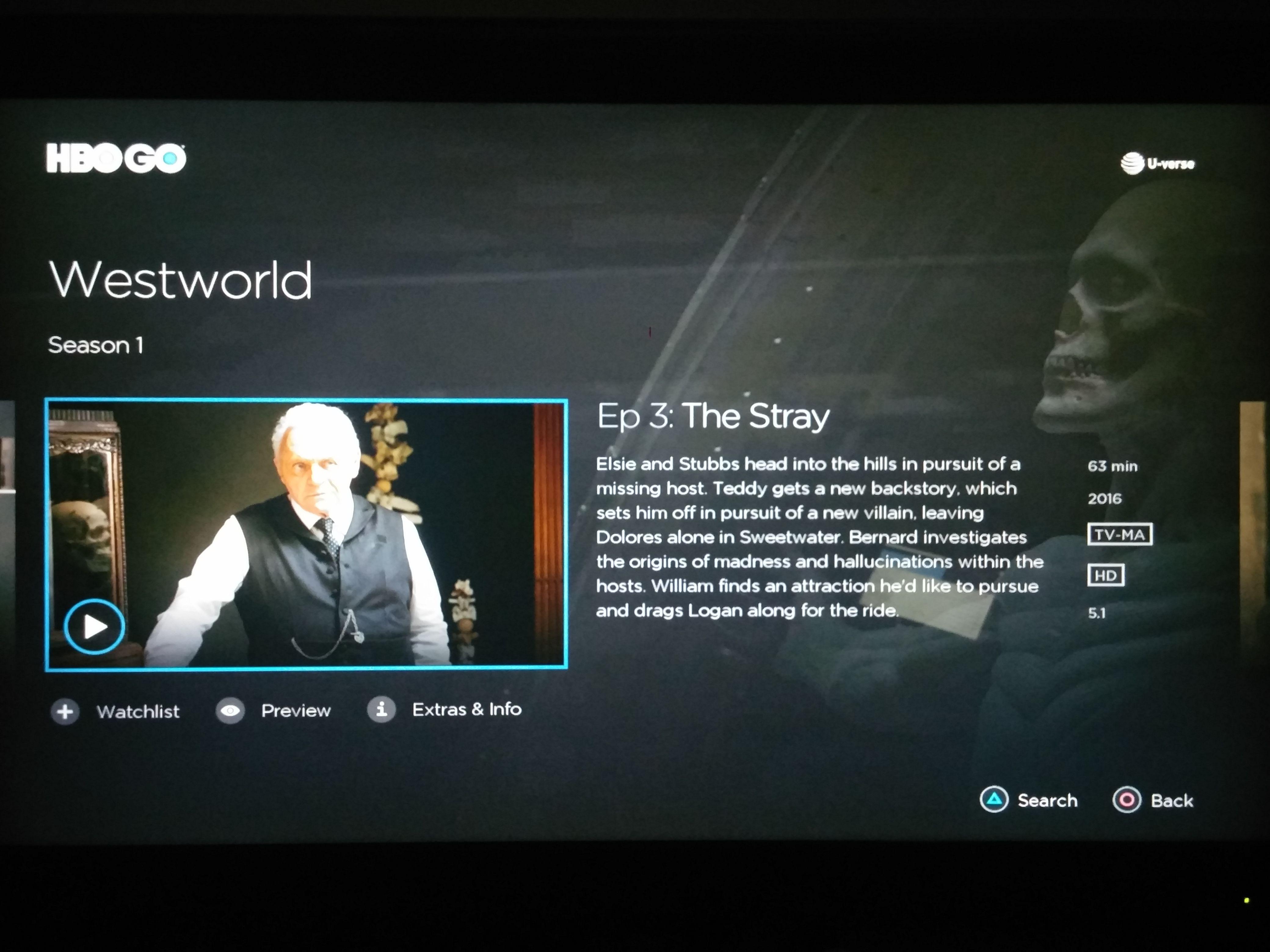 Screenshot] HBO Go 2 0 PS4 update apparently brings 5 1 audio
