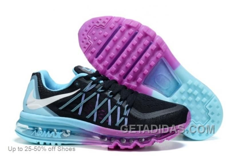 Http Www Getadidas Com Nike Women Air Max 2015 Black Blue Purple Running Shoes Authentic Html Nike Women Ai Nike Air Max 2015 Nike Air Max Nike Shoes Air Max