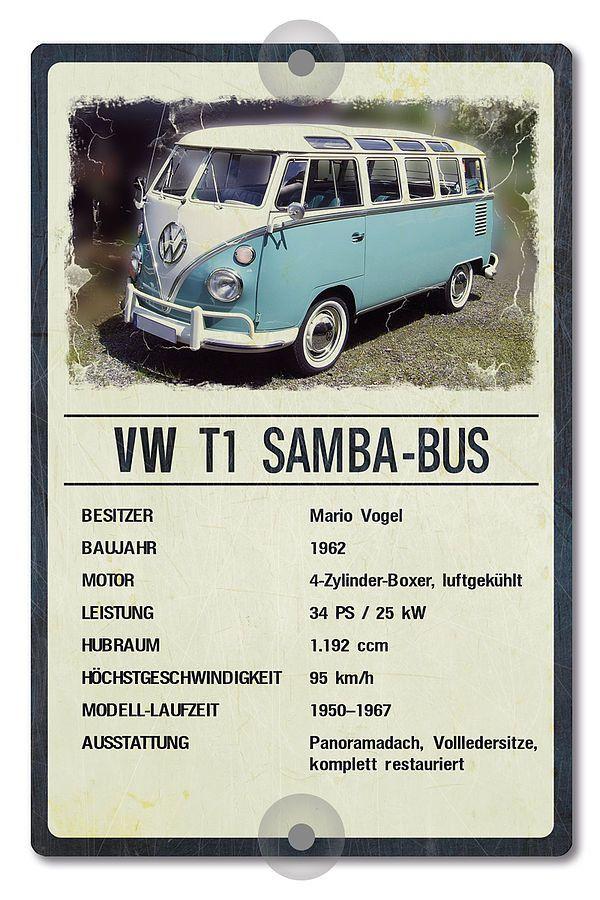 Prasentationsschild Fur Oldtimer 200 X 300 Mm Vintage Schilder Online Kaufen Vw Bus Classic Cars Volkswagen