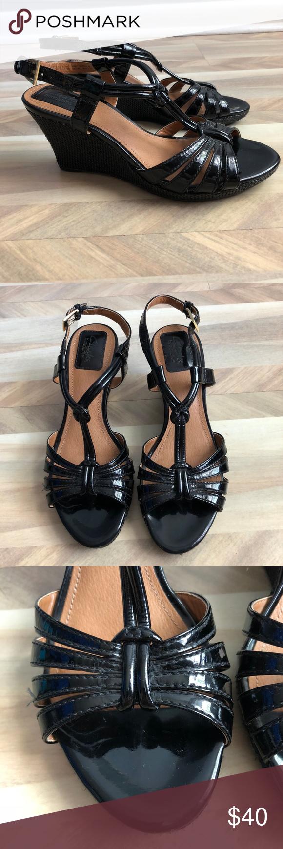 Clarks Bendables Patent Leather Sandal
