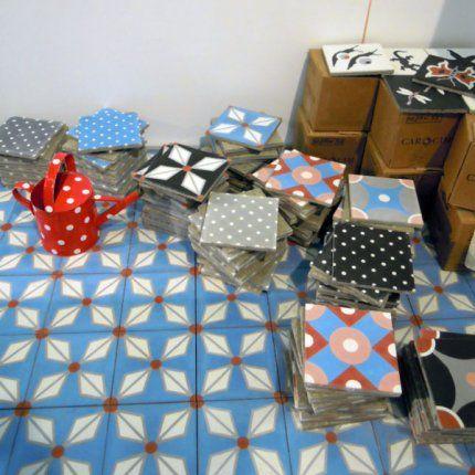 carreaux de ciment petit pan ils sortent du textile carrelage pinterest petit pan. Black Bedroom Furniture Sets. Home Design Ideas