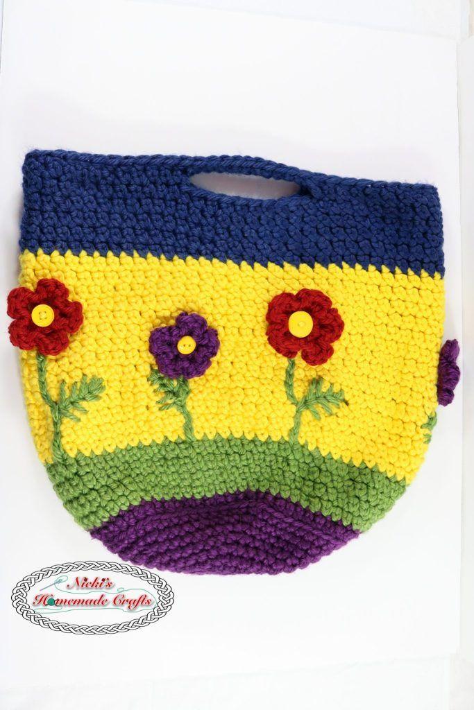 Flower Basket Pattern Free Crochet Pattern Crochet Pinterest