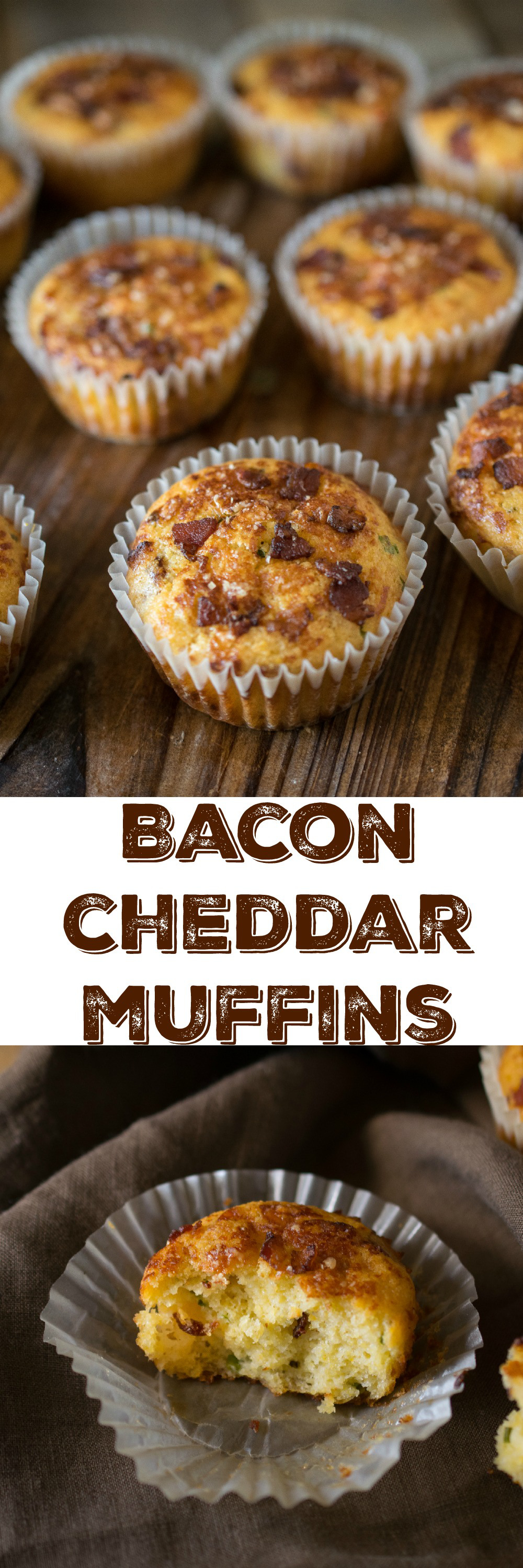 Bacon cheddar muffins - Bacon in a soft, fluffy muffin with cheese! Does it get…