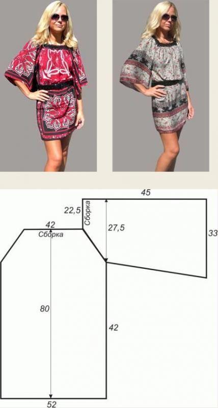 Выкройки туник любого размера – шьем быстро и легко