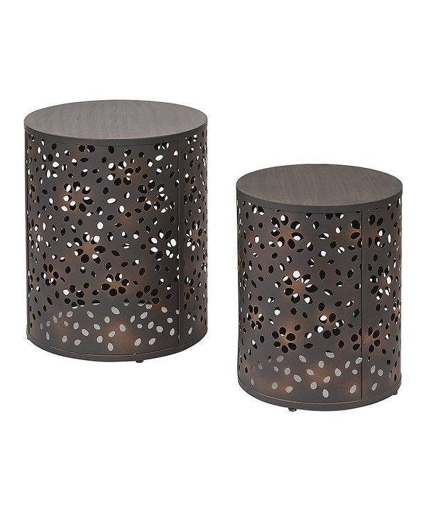 Look at this Middleton Round Accent Table - Set of Two on #zulily today!