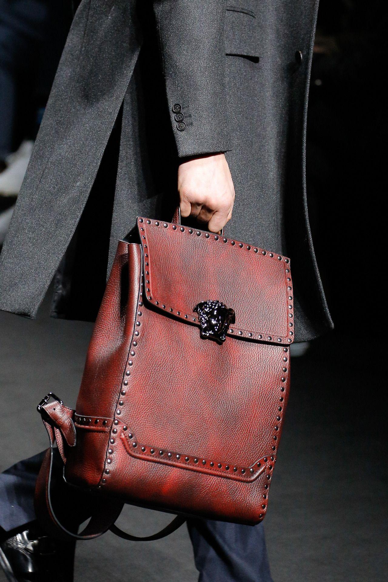 dd5e10c645bf Versace menswear papa got a brand new bag pinterest jpg 1280x1920 Leather versace  bags 2017