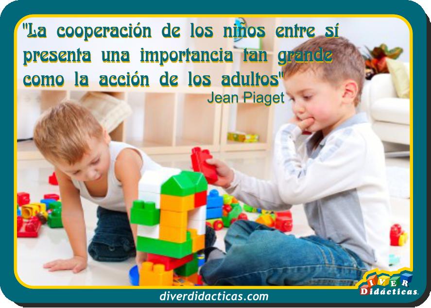 Cita De Jean Piaget Sobre La Cooperación De Los Niños