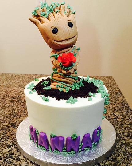 Baby Groot Easy Cake