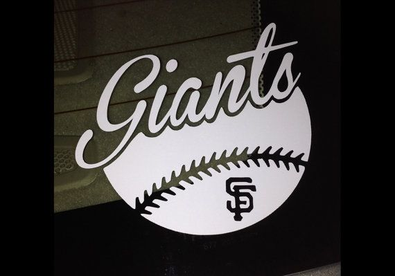 San francisco giants sf baseball decal bumper sticker computer decal