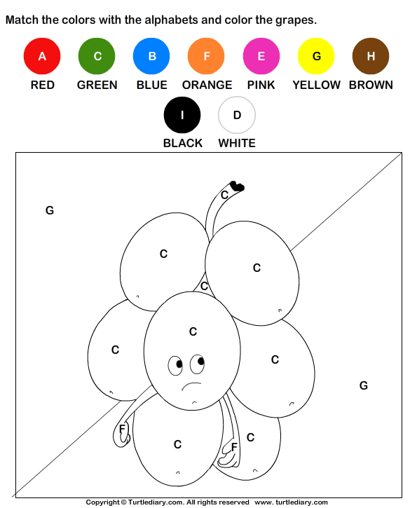 Color by Letter Worksheet 8   Games and Activities for Preschoolers ...