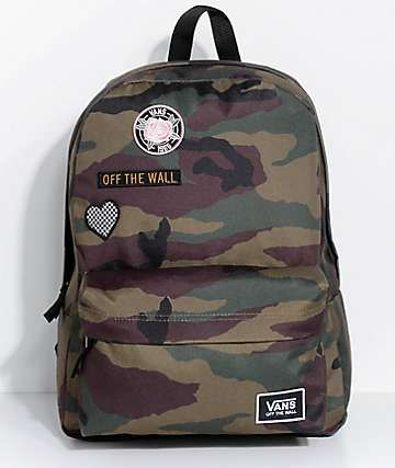 0123eb19d Vans Realm Camo Patch Backpack