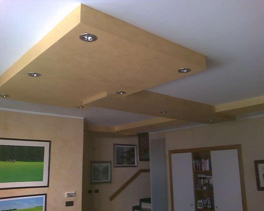 arredare col cartongesso - soffitto cartongesso bicolore